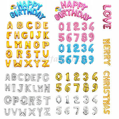 """40"""" Silver Gold Blue Pink Large Letter Number Balloon Float Helium Alphabet"""