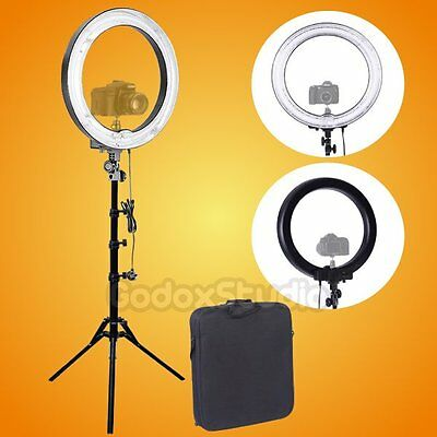 """Fotoconic 600W 5500K 19"""" 48cm Dimmable Fluorescent Ring Light with 185cm Stand"""