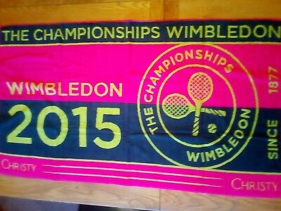 Brand New, Unused Wimbledon Ladies Championship 2015 Towel made by Christy