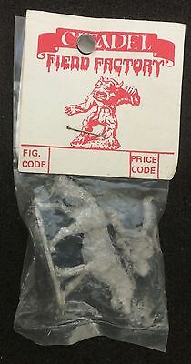 Citadel Miniatures, Fiend Factory FF29-2 'ORC IN PLATE ON GIANT WOLF' GW'82