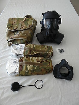 British Army GSR Respirator Size 2 with full accessories & new unopened filters