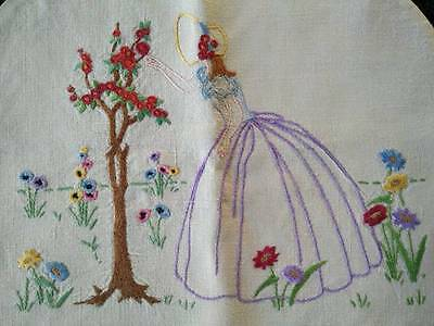 Gorgeous Vintage Hand embroidered Crinoline Lady Tea-Cosy/Cover