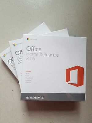 Microsoft Office home and business 2016 Full version/1 PC/DVD/Product Key Card