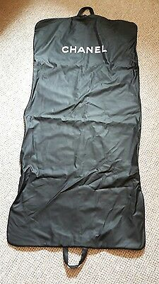 Genuine Chanel Heavy Duty Rubber Coated Dress Suit Cover Black