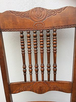 Gorgeous Pressed Back Oak and woven Seat  Spindleback chair!