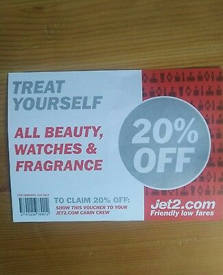 Jet2 20% off inflight voucher (BEAUTY , WATCHES & FRAGRANCE)
