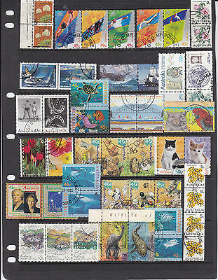 STAMPS..Australia , Decimals in pairs , strips ,,,x 50, used