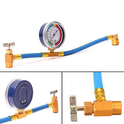 Car Air Conditioning Refrigerant Charging Hose Gauge Measuring 340mm R134A