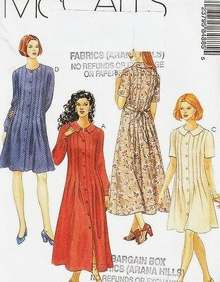 McCalls McCall's 8488 Ladies Dress Sewing Pattern Pleats Misses Size 16 18 20