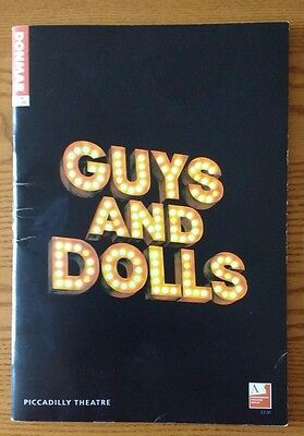 Guys and Dolls Programme 2005 EWAN MCGREGOR JANE KRAKOWSKI Piccadilly Theatre