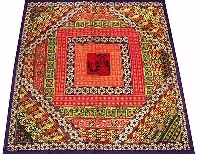 "40"" Indian Art Décor Antique Sari Border Hand Embroidery Wall Hanging Tapestry"