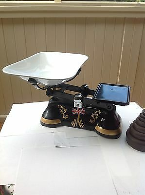 Kitchen Scales With Vintage Weights Collectable
