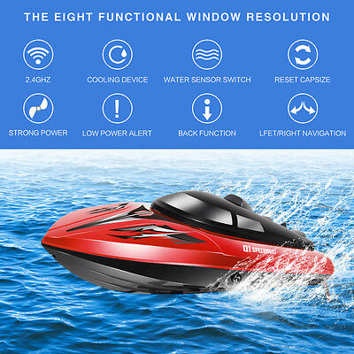 Syma Q1 2.4GHz 4 Channel Water Cooling High Speed Racing RC Boat As Gift