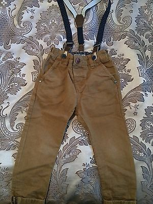 Boys Age 2-3 Next Trousers With Braces