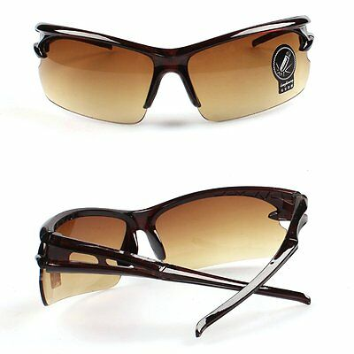 Outdoor Sports Sunglasse Goggles UV400 Cycling Riding Glasses Tawny Frame Tawny