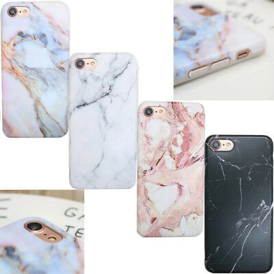 Elegant Pastel Marble Pattern Cover Case Shockproof TPU For iPhone X 8 6s 7 Plus