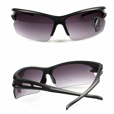 Cycling Driving Glasses Sunglasses Goggles Outdoor Sports UV400 Black Frame Grey