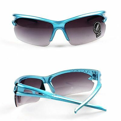 Blue Frame Grey Lens UV400 Cycling Riding Driving Eyewear Sunglasses Goggles