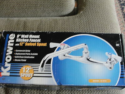 Krowne # 12-812 Wall Mount Commercial Faucet!!!  Brand New / Sealed !!!