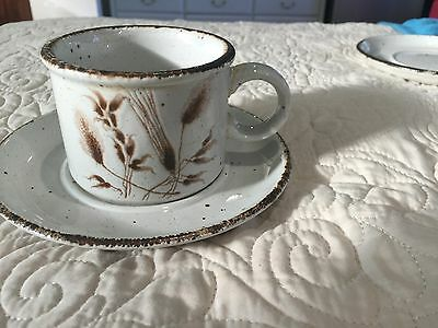 Vintage Midwinter Stonehenge Wild Oats cup and sauce England Eve Midwinter 1970s