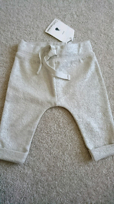 FREE POSTAGE Country Road Silver Track Pants Bottoms Trousers 00 3-6 months BNWT