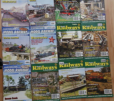 Model Railways Magazines, lot of 12, various issues.