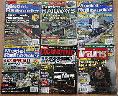 Various Railways / Trains Magazines, lot of 6, assorted issues.