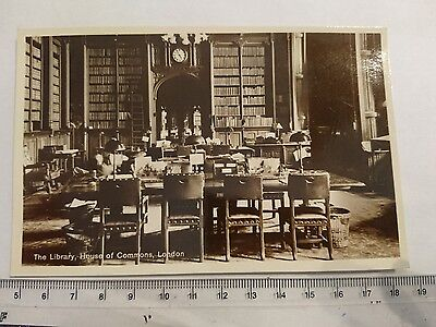 "Vintage 'RP' Photograph Postcard ""The Library, House of Commons, London"""