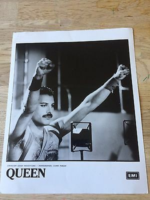 Queen original press publicity photo Freddie Mercury