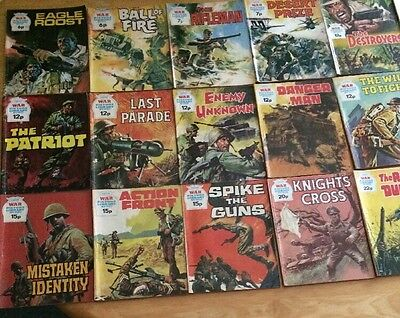 18 Preowned War Picture Library Comics