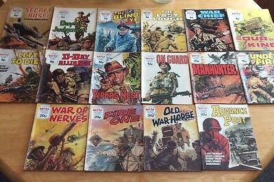 16 Preowned Picture Library Battle Comics
