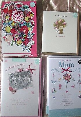 Joblot Bundle Wholesale Quality Mothers Day Cards X24 Rrp £66
