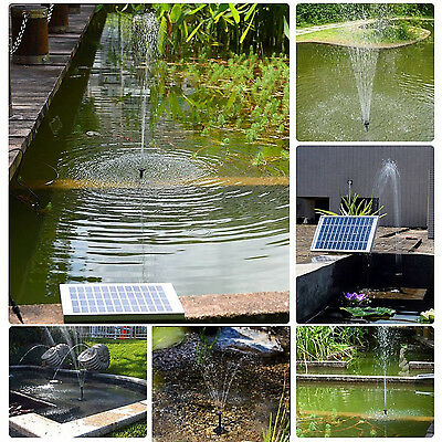 5W Solar Pump Garden Fountain Pond Water Pump Lake Courtyard Flow 380L/h Eco-Fri