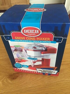 Ice Snow Crusher Maker American Originals Snow Cone Machine