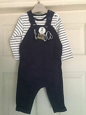 Boys Next Dungarees And Top Set Of 2 Bnwt 9-12 Months