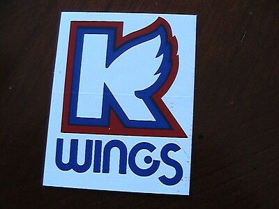 K -Wings Vintage Hockey Sticker
