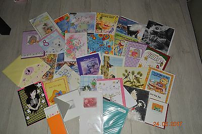 Job lot wholesale 30+ bulk listing of mixed greeting birthday cards unused blank
