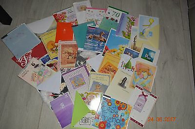 Job lot wholesale 30+ bulk listing of blank greeting birthday cards unused mum