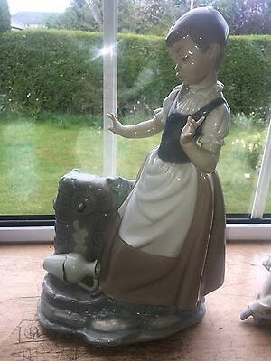 Girl at Well w Broken Jug - Rare Large Nao Figurine by Lladro