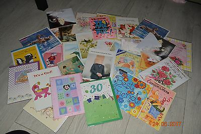 Job lot wholesale 30+ bulk listing of mixed blank birthday cards unused greeting