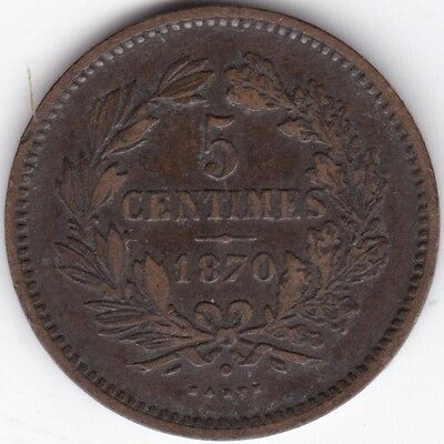1870 Luxembourg 5 Centimes***Collectors***Bronze***