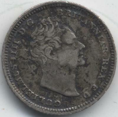 1837 William IIII Silver Fourpence/Groat***Collectors***