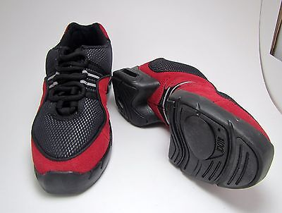 Bloch Boost Women's Black/Red HipHop Jazz Dance Fitness Sneaker Shoes Size 6