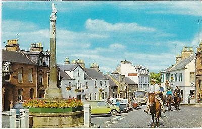 The Square & Horse Riders, MELROSE, Roxburghshire