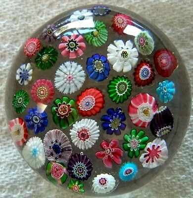 Antique CLICHY Paperweight c. 1850, France -Brilliant!