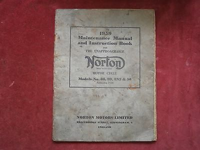 Maintenance manual and instruction book the the unapproachable Norton