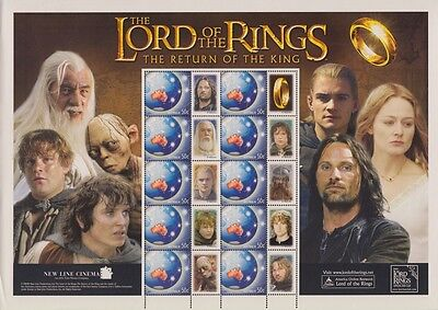 Australia Lord of the Rings sheet Mint