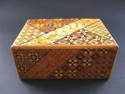 Japanese Yosegi Inlaid Wood Puzzle Box In Perfect Condition