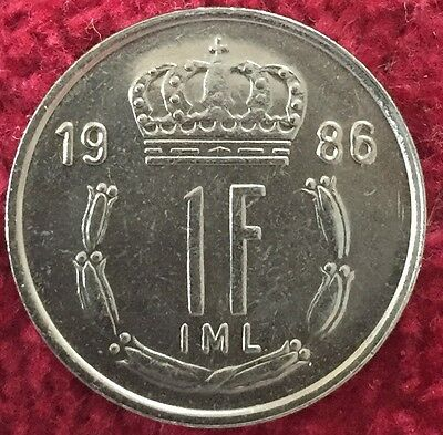 Luxemburg Luxembourg 1 Francs 1986