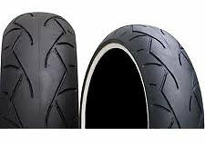New Vee Rubber 130/70-18 VRM302 White Wall Front/Rear Tire For Customs